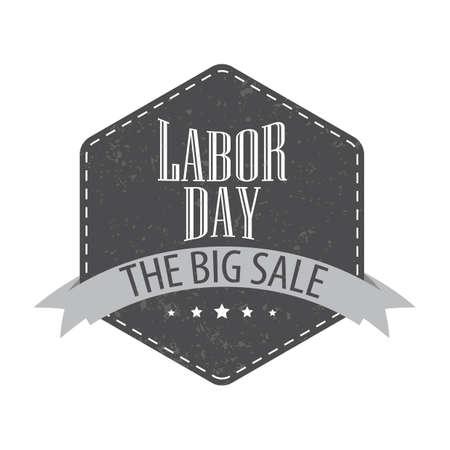 Labor day sale label