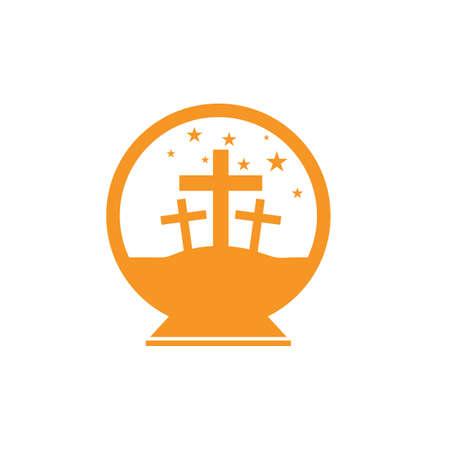 snow globe with crosses
