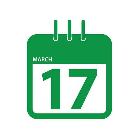 calendar marked on saint patricks day