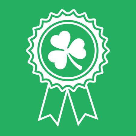ribbon with clover Archivio Fotografico - 106672196