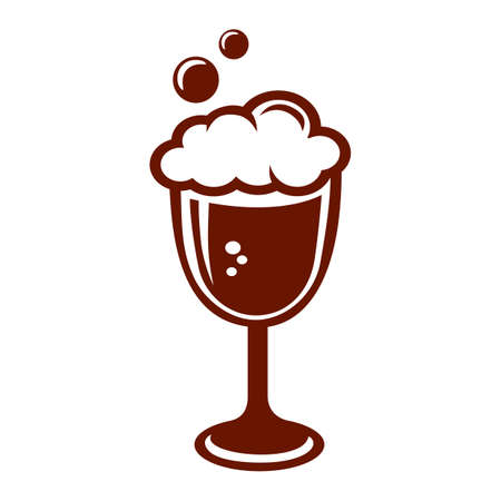 a glass of beer Illustration