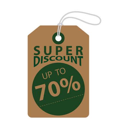 super discount tag Ilustrace