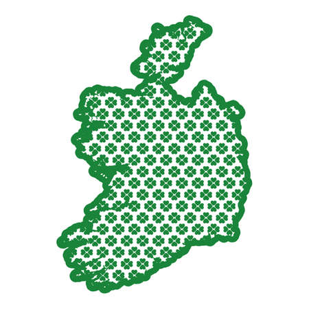 ireland map Illustration