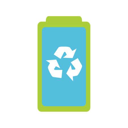 エコ リサイクル バッテリー  イラスト・ベクター素材