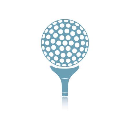 Golf ball on tee Çizim