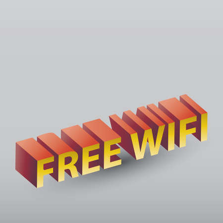 wi: free wifi wordings Illustration