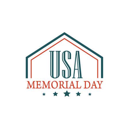 Memorial day label Ilustração