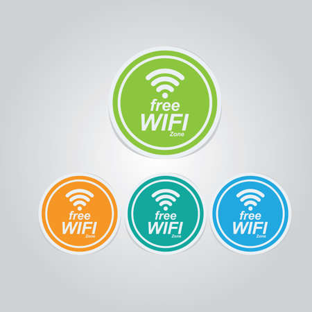 free wifi stickers Illustration