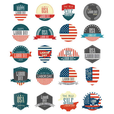 USA labor day label collection