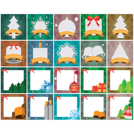 collection of christmas frames  イラスト・ベクター素材