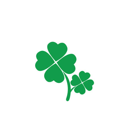 four leaves clovers 矢量图像