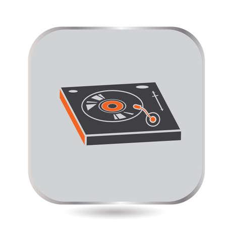 DJ turntable Illusztráció