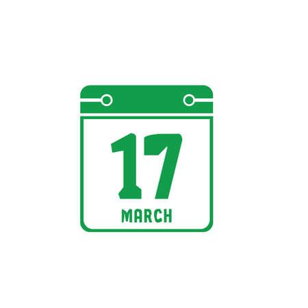 st. patricks day date on calendar