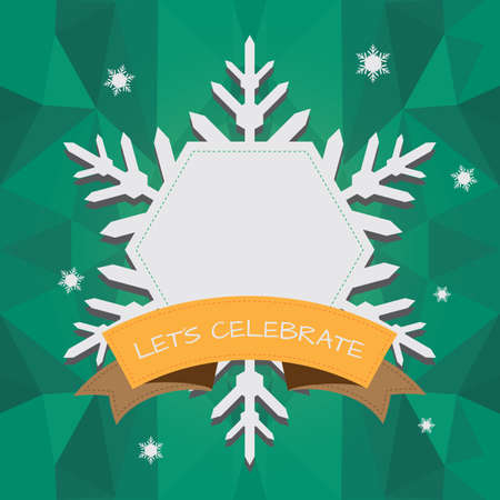sneeuwvlokken frame Stock Illustratie