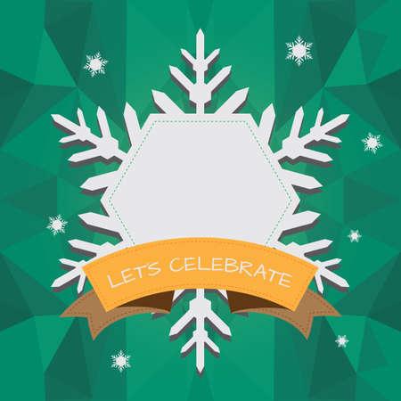 textspace: snowflakes frame Illustration