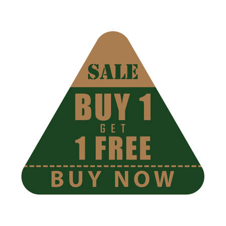 buy one get one free label Stock Illustratie