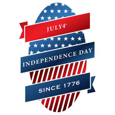 미국 독립 기념일 레이블 일러스트