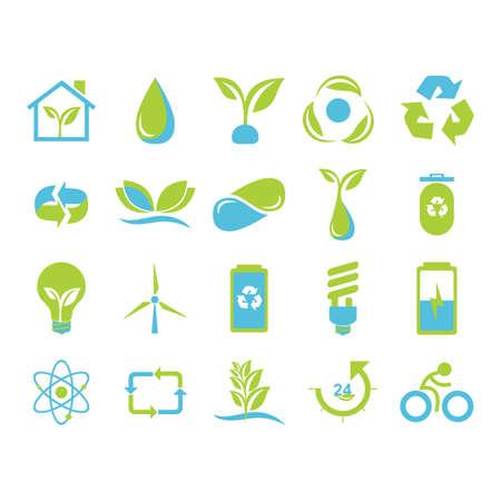 set of nature icons Illusztráció