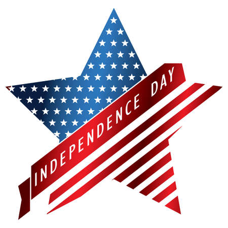 American independence day illustration.
