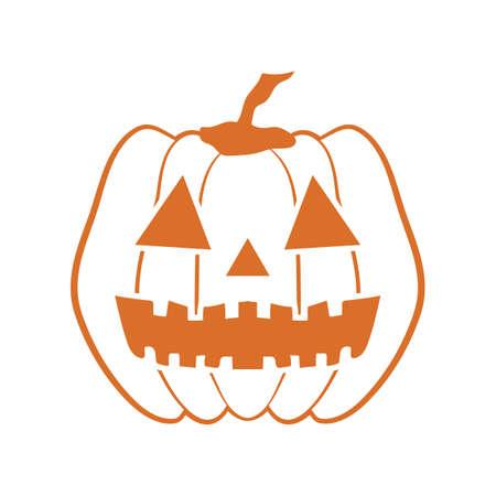 Halloween geschnitzter Kürbis