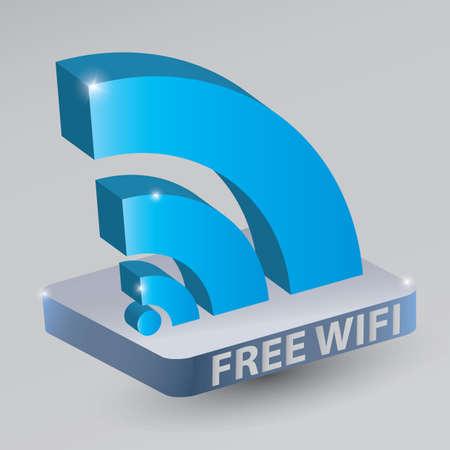 free wifi Stock Vector - 81538643