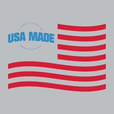 米国のラベルで行われました。  イラスト・ベクター素材