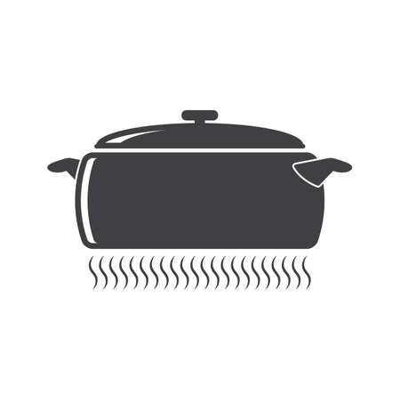 コンロ上の鍋  イラスト・ベクター素材
