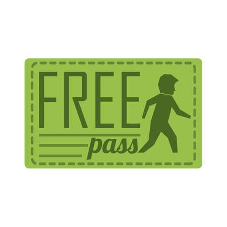 free pass coupon Ilustrace