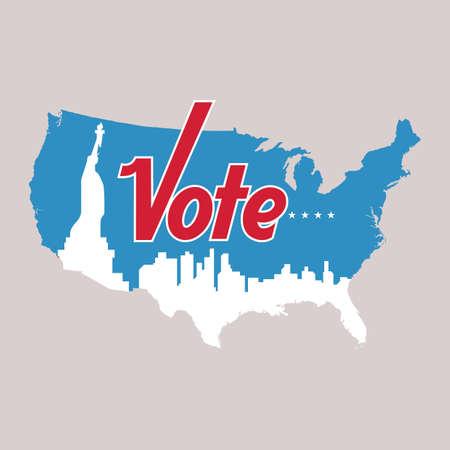 米国の投票ラベル  イラスト・ベクター素材