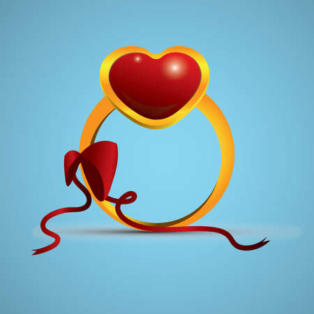 Anillo del corazón Foto de archivo - 81419403