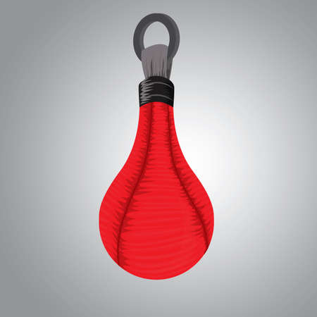 A punching bag illustration.