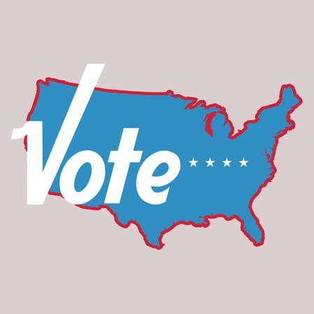 미국 투표 라벨 스톡 콘텐츠 - 81537896
