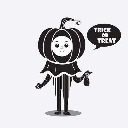 person in a costume saying trick or treat Banco de Imagens - 81487152