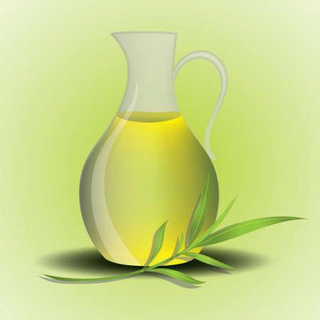 spa oil in a jug Illusztráció