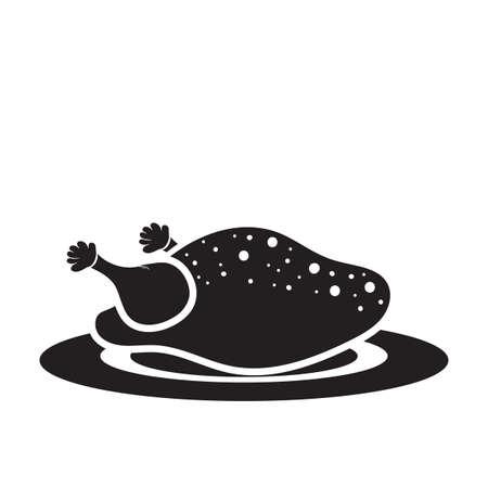 roasted chicken Ilustração