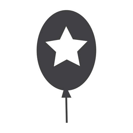 Balloon with star Illustration