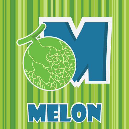 m for melon Ilustrace