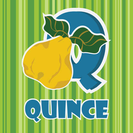 q for quince Stock Vector - 106672310