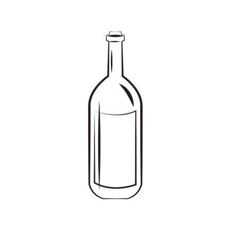 A wine bottle illustration.