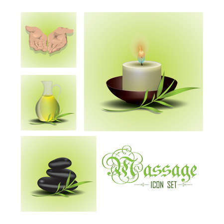 spa massage icon set Stock Vector - 81419404