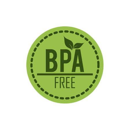BPA 무료 라벨 일러스트