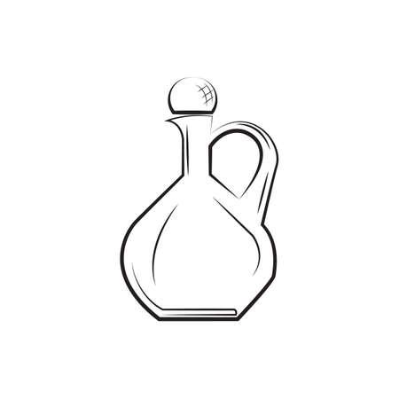 ワインの瓶のイラスト。