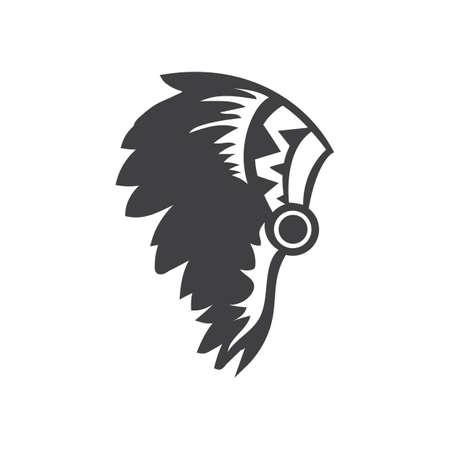 アメリカの頭飾り  イラスト・ベクター素材