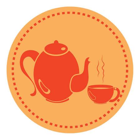 teiera e tazza Vettoriali