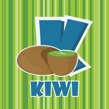 k for kiwi Illustration