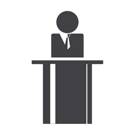 Man giving speech Illustration