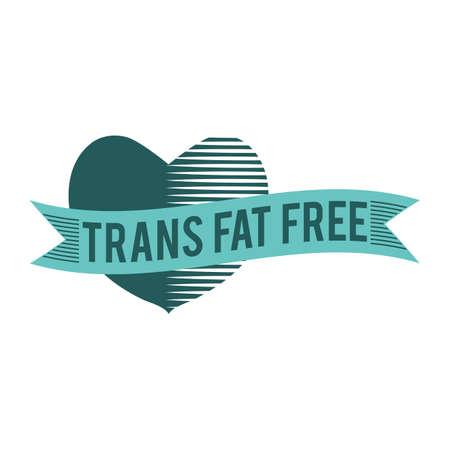 トランス脂肪フリー ラベル  イラスト・ベクター素材