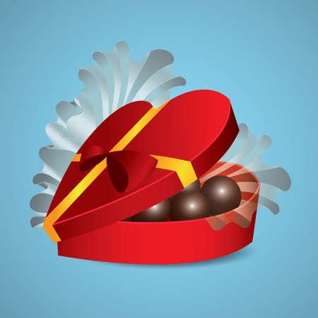 バレンタイン チョコレート ギフト  イラスト・ベクター素材