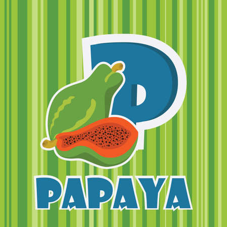 p for papaya