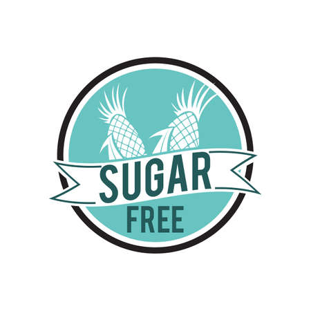 sugar free label Иллюстрация